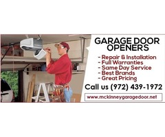 Commercial Garage Door Opener Repair Starting $25.95 – McKinney, 75069, TX