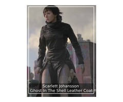 Scarlett Johansson Ghost In The Shell Leather Coat
