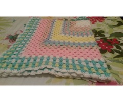 11 CROCHETED GRANNY SQUARE THROWS