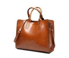 Thread Pattern Leather Handbags Big