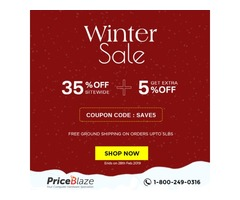 Save 35% Off Sitewide plus Get additional 5% off Coupon throughout February at Priceblaze.com