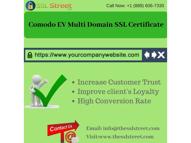 Comodo EV Multi Domain SSL Certificate At $225  For One Year! The SSL Street | free-classifieds-usa.com