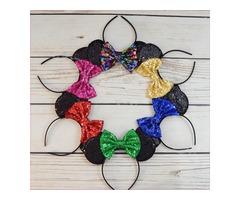 Shop Minnie Mouse Ears Hair Bow Headband