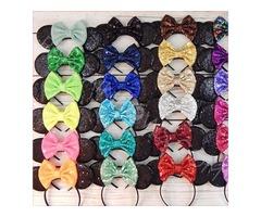 Shop Minnie Mouse Ears Hair Bow Headband | free-classifieds-usa.com