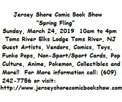 Jersey Shore Spring Comic Book Show   free-classifieds-usa.com
