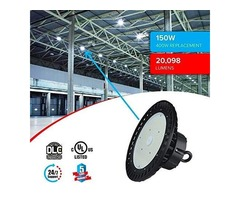 Install  High Bay LED Light 150W UFO 5700K for Indoor