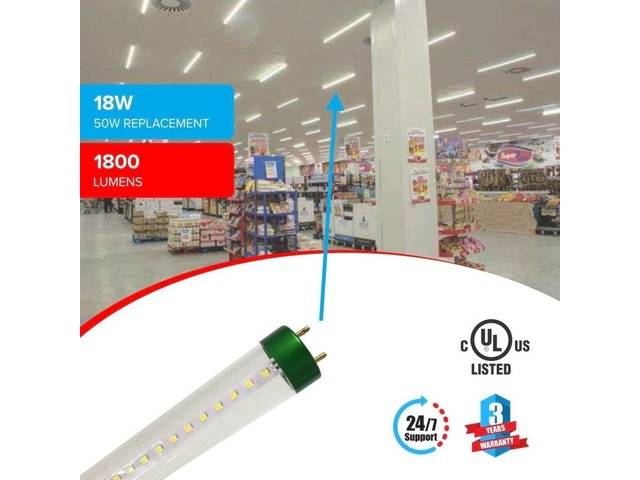 Replace Your Conventional Tube Lights With This T8 4ft 18W LED Tube Glass  | free-classifieds-usa.com