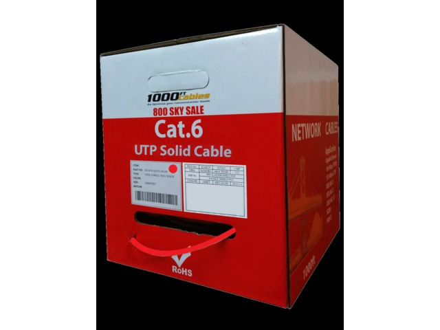 Solid Cat6 Plenum 1000FT Cable | free-classifieds-usa.com
