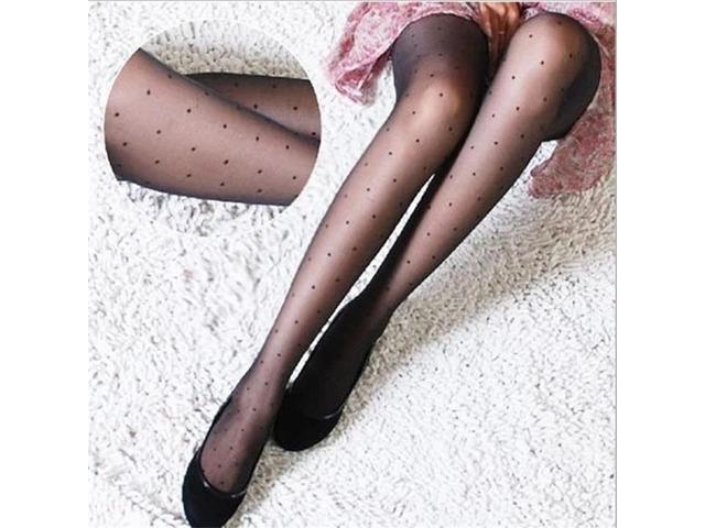 black Tights Classic Small Polka Dot Silk Stockings Thin Lady Vintage | free-classifieds-usa.com