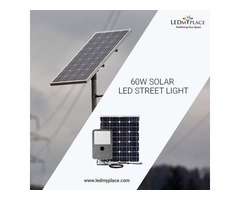 The Best New 60w Solar LED Street Light  On Sale