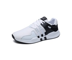 Mesh Lace-Up Breathable Round Toe Mens Sneakers
