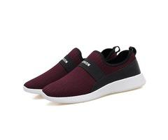 Mesh Slip-On Round Toe Mens Sneakers