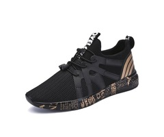 Spandex Lace-Up Patchwork Stripe Mens Sneakers