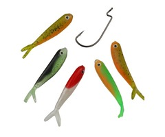 5PCS Soft Fishing Lure Bionic Bass Bait With Crank Hook