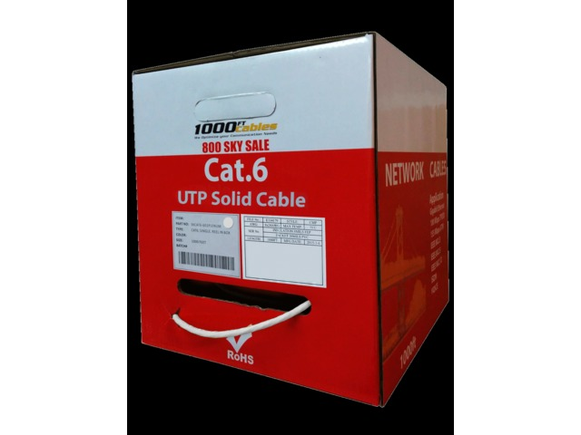 Plenum Cat6 1000ft UTP Solid Cable | free-classifieds-usa.com