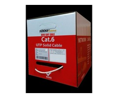 Plenum Cat6 1000ft UTP Solid Cable