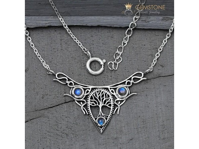 be8d1948d Moonstone Necklace - Vintage Moon - GSJ - Jewelry - Watches - Las ...