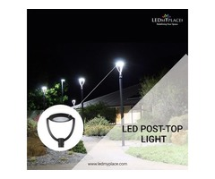 Install LED Post Top Lights To Make The Outdoor Gardens More Beautiful