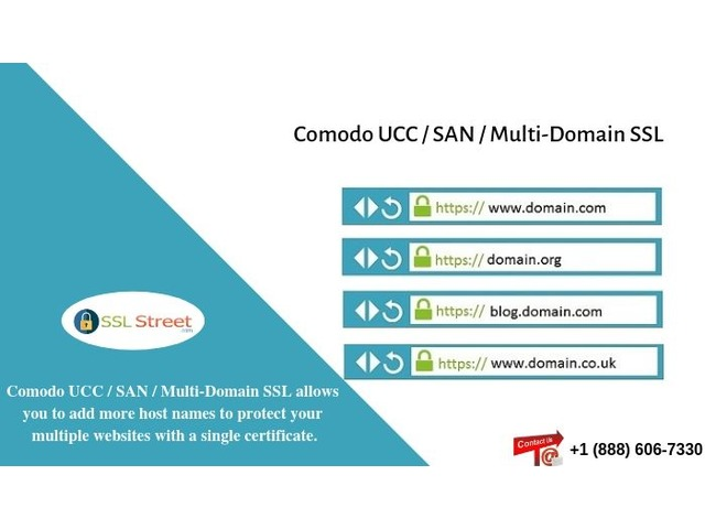 Comodo UCC / SAN / Multi-Domain SSL Certificate $60 For One Year. Call Now! | free-classifieds-usa.com
