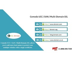 Comodo UCC / SAN / Multi-Domain SSL Certificate $60 For One Year. Call Now!