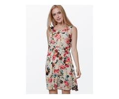 Tidebuy U Neckline Floral Day Dress