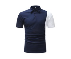 Tidebuy Slim Color Block Patchwork Mens Polo