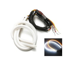 2 x 45cm DC12V LED Strip Lights Switchback White DRL Amber Turn Lights