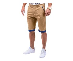 Tidebuy Plain Straight Mens Cargo Shorts