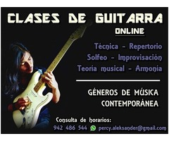 Online guitar lessons