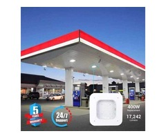 Get More Visibility at Gas Stations by Using LED Canopy Lights
