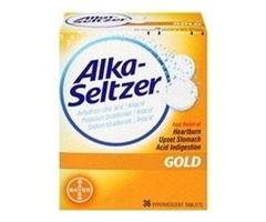 Alka seltzer effervescent tablets gold