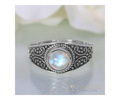Moonstone Ring Vintage Signet-GSJ