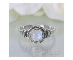 Moonstone Ring Crescent Dream-GSJ