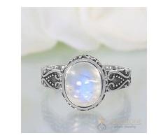 Moonstone Ring Sparkling Moonshine-GSJ
