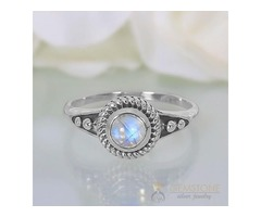 Moonstone Ring Exotic Life-GSJ