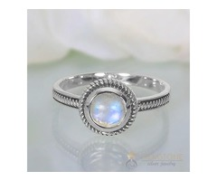 Moonstone Ring Vibrant Bond-GSJ