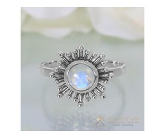 Moonstone Ring Soulful Sunrise-GSJ