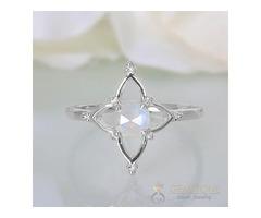Moonstone Ring Floral Angel-GSJ