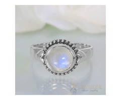 Moonstone Ring Enchanting Signet-GSJ
