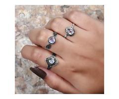 Moonstone Ring Charming Expression-GSJ