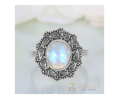 Moonstone Ring Victorian Marvel-GSJ
