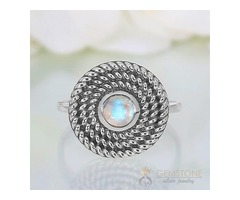 Moonstone Ring Harmonious Devotion-GSJ
