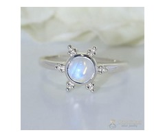 Moonstone Ring Sun Sanctuary-GSJ