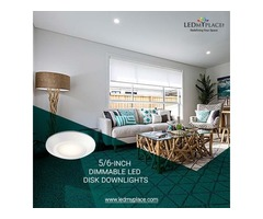Easy To Get More Discount On 5/6-inch Dimmable LED Disk Downlights