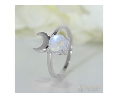 Moonstone Ring Ethereal Noblesse-GSJ