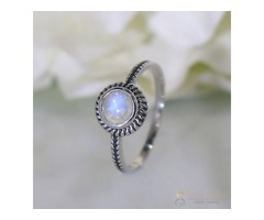 Moonstone Ring Subtle Nook-GSJ