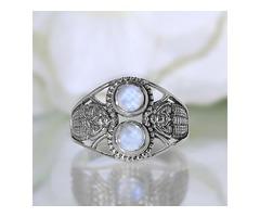 Moonstone Ring Double Elegance-GSJ