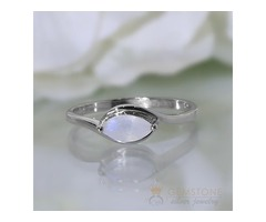 Moonstone Ring Eagle Eye-GSJ
