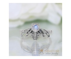 Moonstone Ring Piccola Bee-GSJ