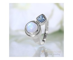 Moonstone Ring Symbiotic Love-GSJ